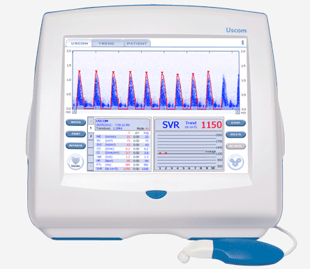 The USCOM 1A is a cost-effective and non-invasive advanced haemodynamic monitor.