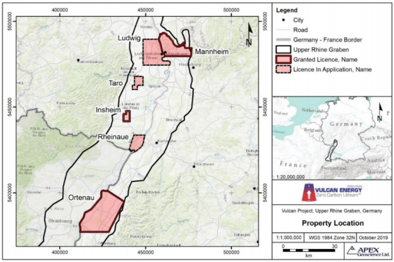 Insheim licence land position.