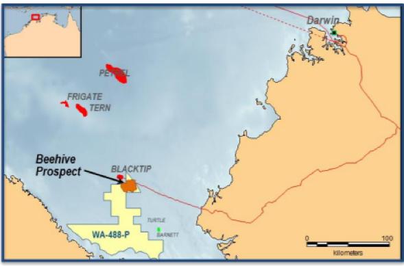 Location of Beehive prospect
