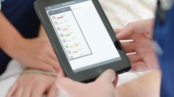 Patientrack being used in a clinical care environment.