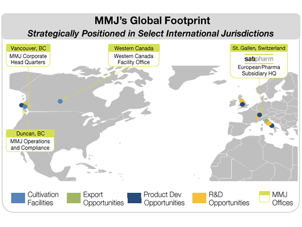 MMJ's Global Footprint