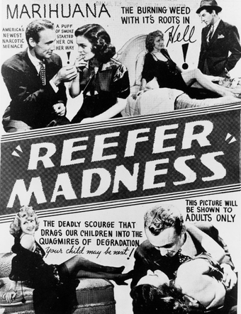 "Original poster for Reefer Madness: ""America's newest narcotic menace"""