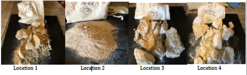 A series of four kaolinitic samples collected from the surface in the Noombenberry clay project in Western Australia submitted to First Test Minerals in the UK for determination of kaolin/halloysite clay content, quality and sales potential. Testing was conducted via Scanning Electron Microscopy (SEM) to identify halloysite occurrence in samples.