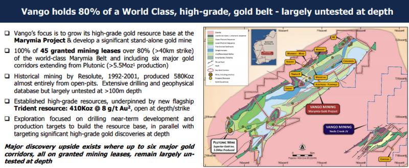 Vango Mining's market capitalisation of approximately $100 million may be conservative.