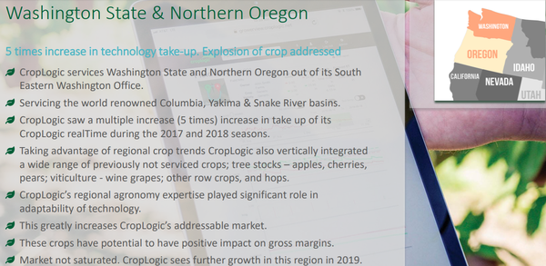 Oregon is an ideal location for CropLogic's hemp trials.