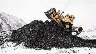 Mining winter bulldozer truck snow